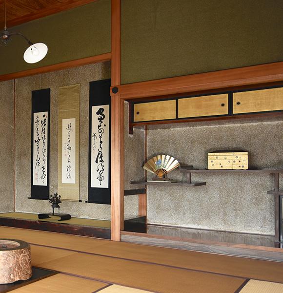 主日式客厅的壁龛