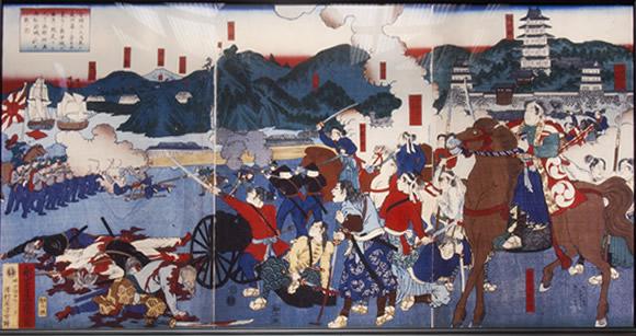 箱館戦争・松前福山城攻防戦の図
